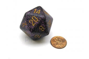 Chessex 34mm Large D20 Speckled Dice, 1 Die - Hurricane #XS2064