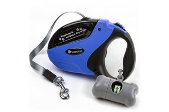 (Blue) - Beastron BP-02 Retractable Dog Leash/4.9m Extra Long Nylon Ribbon Walking Leash for Medium to Large Dogs
