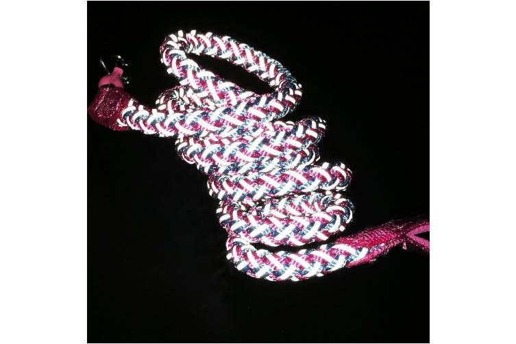 (1.8m * 1.3cm , Pink) - Mycicy Rope Dog Leash - 1.8m Reflective Dog Leash - Mountain Climbing Nylon Braided Heavy Duty Dog Training Leash for Large and Medium Dogs Walking Leads
