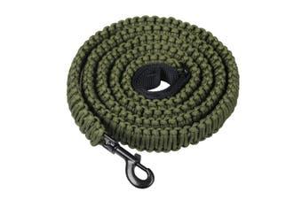 (Army Green) - Durable Dog Walking Leash - 550 Paracord Handmade 2.3m Long Dog Training Leash for Husky, Basset Hound, Working Dog, Sleut