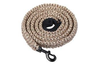 (Desert Camo) - Durable Dog Walking Leash - 550 Paracord Handmade 2.3m Long Dog Training Leash for Husky, Basset Hound, Working Dog, Sleut