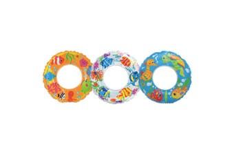 Intex 59242EP 60cm Transparent Swim Ring Assorted Colours