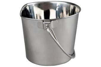 (5.7l) - Advance Pet Products Heavy Stainless Steel Flat Side Bucket