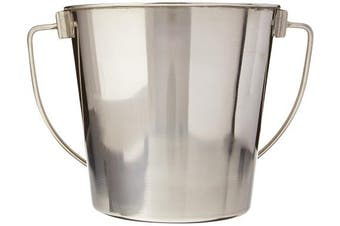 (1.9l) - Advance Pet Products Heavy Stainless Steel Round Bucket