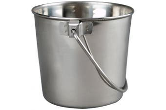 (3.8l) - Advance Pet Products Heavy Stainless Steel Round Bucket