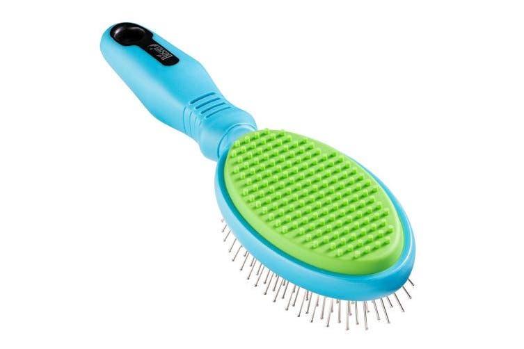 Boshel Dog Brush 2 In 1 Dog Hair Brush and Dog Hair Remover Brush – Dog Pin Brush - Cat Brush and cat hair remover - Pet Brush and Pet Hair Remover, detangler brush, Dog Bath Brush, Dog Grooming Brush