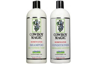 Cowboy Magic Rosewater Shampoo and Rosewater Conditioner Bundle, 950ml Each