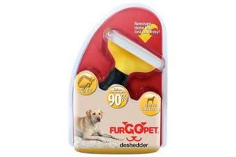 (Large, Yellow) - Fur Go Pet Dog Deshedder Tool