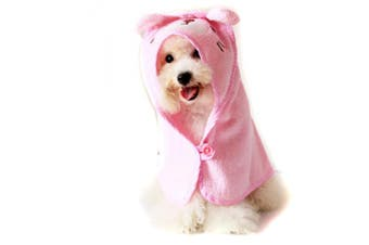 (Large, Pink) - Alfie Pet by Petoga Couture - Kate Hooded Bath Towel for Small Dogs and Cats