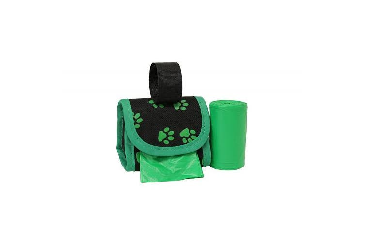 (Green Paw) - Five Star Pet Purse Style Dispenser with 2 Rolls Made in USA Easy Open Poop Bags Dog Waste Bags