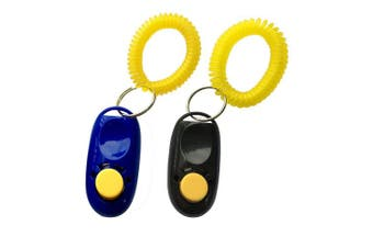 (Blue) - NewNewStar Pet Training Clicker with Wrist Strap - Dog Training Clickers