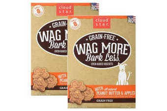(830ml) - Cloud Star Wag More Oven Baked Grain Free Biscuits - 410ml Peanut Butter, Apples