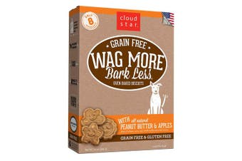 (PeanutButter & Apple, 410ml) - Cloud Star Wag More Bark Less Grain Free Oven Baked Biscuits