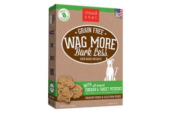 (Chicken & Sweet Potatoe, 410ml) - Cloud Star Wag More Bark Less Grain Free Oven Baked Biscuits