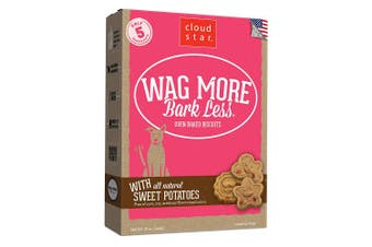 (Sweet Potatoe, 470ml) - Cloud Star Wag More Bark Less Oven Baked, Crunchy Dog Treats, Limited Ingredients & Baked in the USA