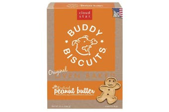 Cloud Star Buddy Biscuits for Dogs, Peanut Butter Madness (470mls), Large