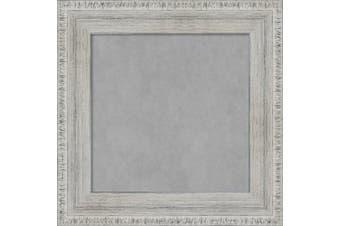 (Small) - Amanti Art Rustic Whitewash Framed Magnetic Board, Small