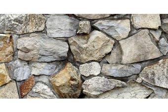 (18x36) - Silver Medley Rock / HD Stone Aquarium Background Rocky Fish Tank Background Various Sizes