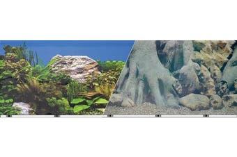 Blue Ribbon Pet Products ABLVSB1219 White Decorative Rock Background for Aquarium, 48cm 15m