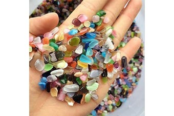 (colorful) - Pebble Gravel for Fish Turtle Tank Landscape bottom decoration TR318 Brand Colourful opal glass Sand stone rocks glass ornament for Fantastic Garden or Yard