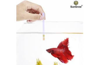 (100 Strips) - SunGrow Betta pH Test Strips, 8.9cm , Ensure for Fish and Invertebrates, Just Dip and Read, Must-Have Aquarium Item, 100 Pieces