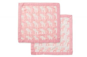 (Unicorn Pink) - Angel Dear Jacquard Blankie, Unicorn Pink