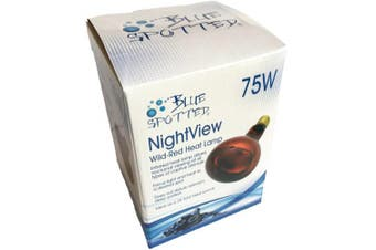 NightView Wild-Red 75 Watt Infrared Heat Lamp (Bulb) / Reptile Night Light by Blue Spotted For Viewing, Heating And Night Light For Reptile -Your Terrarium Pet Reptiles and Amphibians!