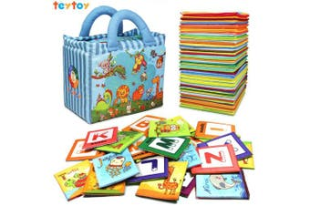NEEDOON Baby Toy 26pcs ABC Alphabet Cards Toddler Learning Tool with Colourful Storage Bag