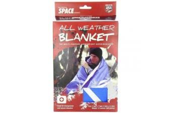 GrKber Outdoors Original Space Brand All Weather Blanket: Blue