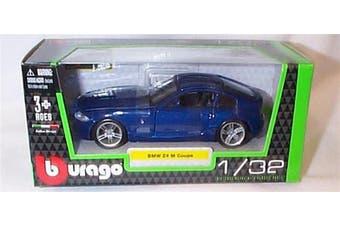 burago blue BMW Z4 M coupe car 1.32 scale diecast model