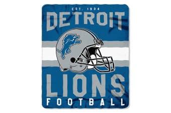 (Detroit Lions) - The Northwest Company Officially Licenced NFL Singular Fleece Throw Blanket, 130cm x 150cm