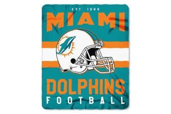 (Miami Dolphins) - The Northwest Company Officially Licenced NFL Singular Fleece Throw Blanket, 130cm x 150cm