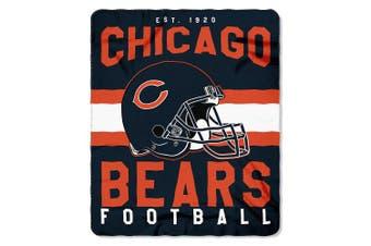 (Chicago Bears) - The Northwest Company Officially Licenced NFL Singular Fleece Throw Blanket, 130cm x 150cm