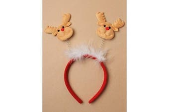 Allsorts® Christmas Light Brown Reindeer Boppers with White Fur Trim