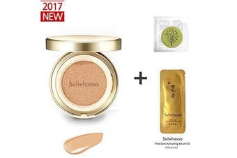 2017 New Sulwhasoo Perfecting Cushion EX (No.23 Natural Beige) 15ml(15g)+Refill 15ml(15g)