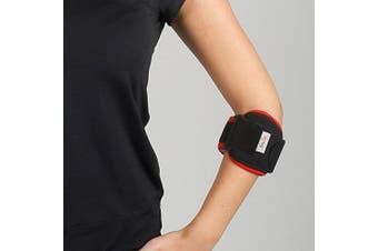 (Black) - Tennis Elbow Support Strap - Brace for Both Arms - Epicondylitis Support - Adjustable Neoprene Epi Bandage - Arthritis Pain Relief Strap - for Golfers Tennis Players Gym Sport (Black)