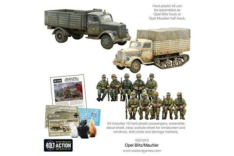 Warlord Games, Opel Blitz/Maultier, Bolt Action Wargaming Miniatures