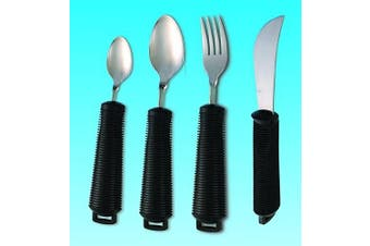 (Black) - Large handled adult cutlery - Disability eating aids.