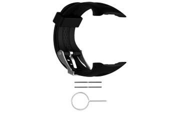 (Black, Smal-Women Size) - Replacement Band for Garmin Forerunner 10/15 For Women/Man - TenYun Silicone Wristband Strap/Bands for Garmin Forerunner 10/Garmin Forerunner 15