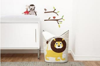 (Lion) - 3 Sprouts Laundry Hamper – Baby Storage Basket Organiser Bin for Nursery Clothes
