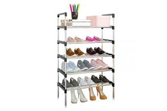 (5 Tiers 15 Shoes, Blue) - AcornFort® S-503 5 Tiers Adjustable Shoe Storage Shoe Rack Organiser Shelf Hold Stand for 15 Pairs Shoe, 2019 New Upgrade Sturdy Design, Space Saving, Easy Assemble
