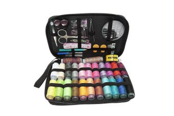 (96pcs) - BIGTEDDY - 96pc Professional Embroidery Sewing Supplies Tools Travel Emergency Sew Beginner Accessories Kit for Home Office Dress and Clothes Repair Threads and Needles and much more