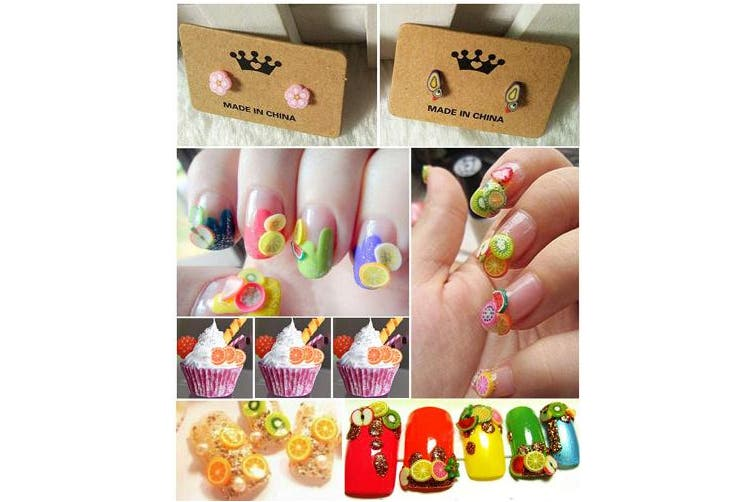 (#1) - RoseFlower 10000 Pcs 3D Cute Designs Nail Art Canes Sticks Stickers Rods Fruit Pattern Slices Nail Art Stickers Perfect for DIY Crafts, Cellphone Decoration, Nail Art Decoration #1