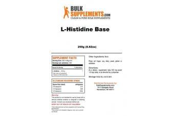 BulkSupplements Pure L-Histidine Base Powder (250 grammes)