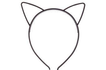 (Simple Cat Ears Black) - Bonnie Z. Leonardo Girls Ladies Comfortable Plastic Cat Ears Headband Black 1pcs
