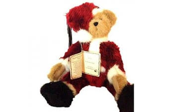 boyds head bean collection santa bearhugs christmas teddy bear