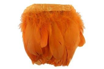 (orange) - ADAMAI 2 Yards Goose Feathers Trims Fringe DIY Dress Sewing Crafts Costumes Decoration (Orange)