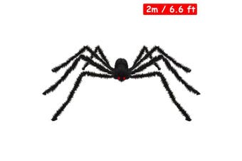 (6.5 ft Spider) - Spider Decorations, Kearui Outdoor Indoor Halloween Spider Hairy Poseable Scary Spider Tarantula for Patio Yard Garden House Decorations, 6.5 ft / 200 cm (6.5 ft Spider)