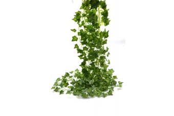 GreenDec 26m 12 Strands Artificial Flowers Greenery Fake Hanging Vine Plants Leaf Garland Hanging for Wedding Party Garden Outdoor Office Wall Decoration