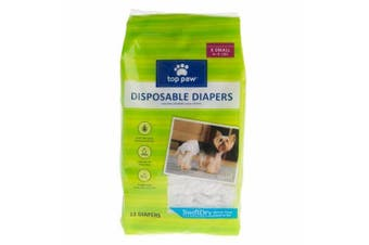 (X Small) - Top Paw Disposable Dog Nappies - 12 Pack